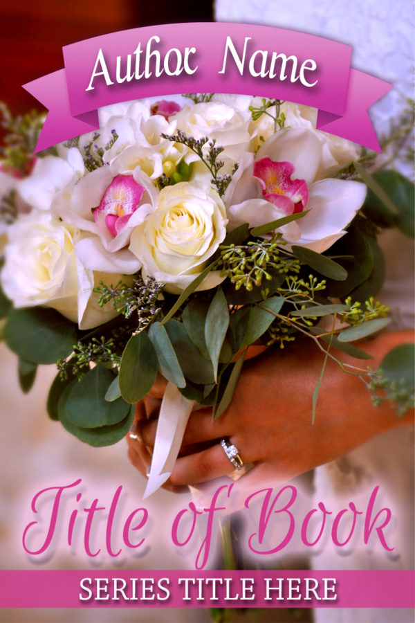 Wedding or flower themed premade book cover