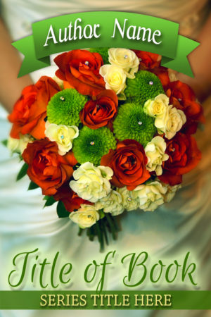 Wedding flowers premade book cover