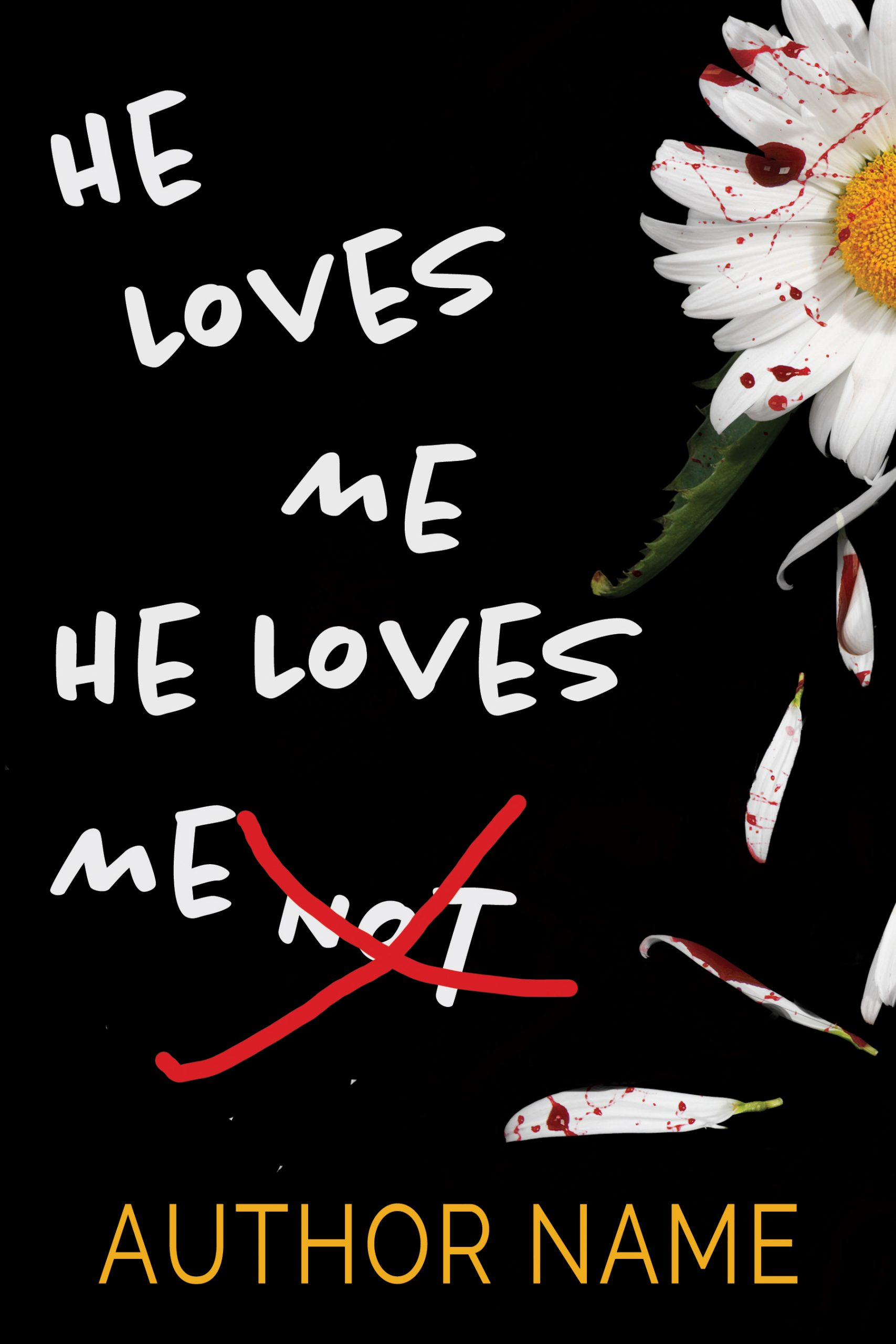 He Loves Me He Loves Me Not Mystery Thriller Premade Book Cover