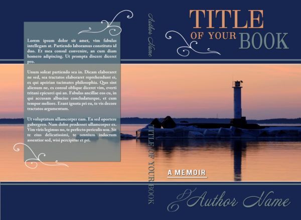 Memoir type non fiction premade book cover