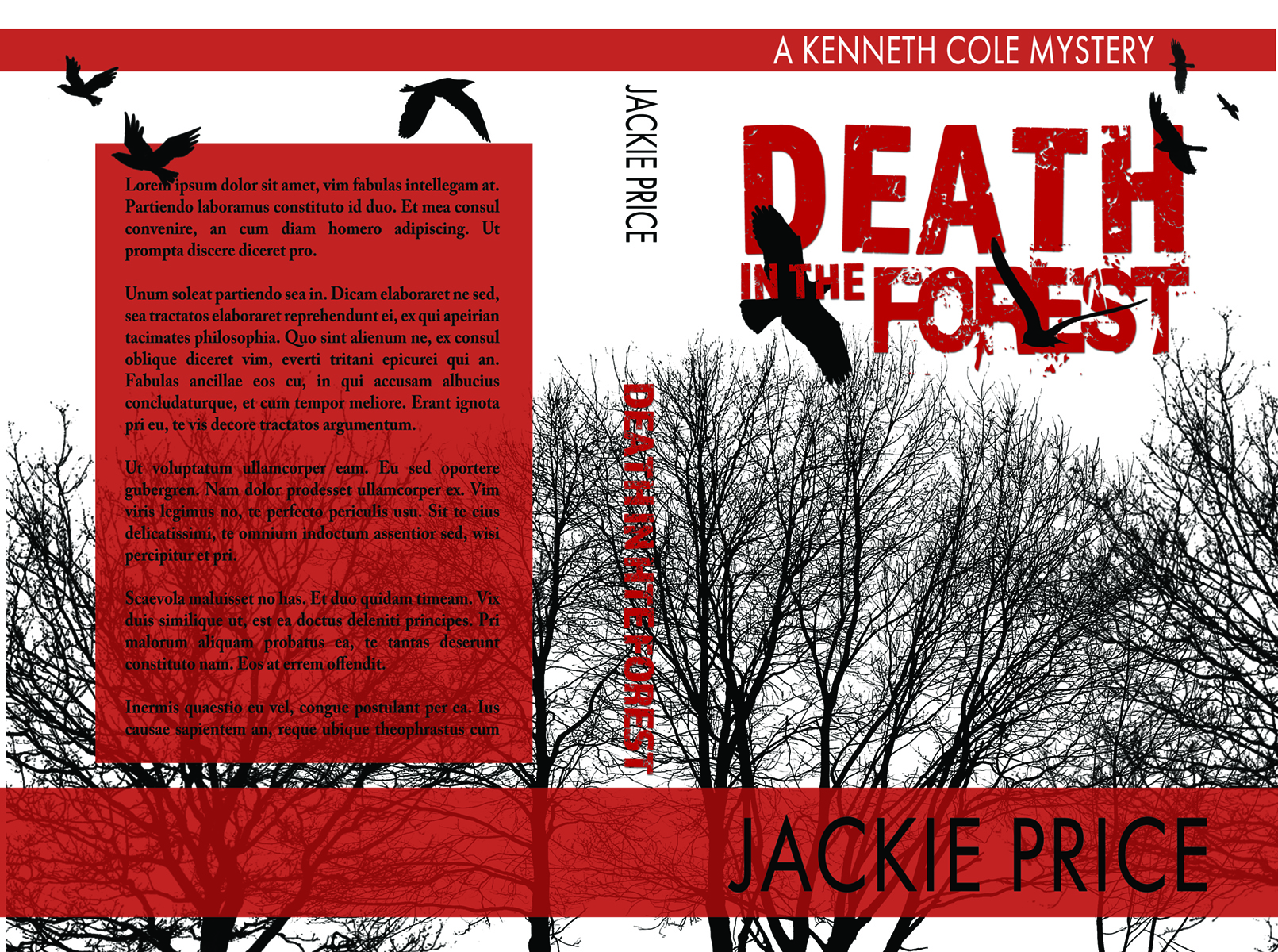 Black and white suspense premade book cover