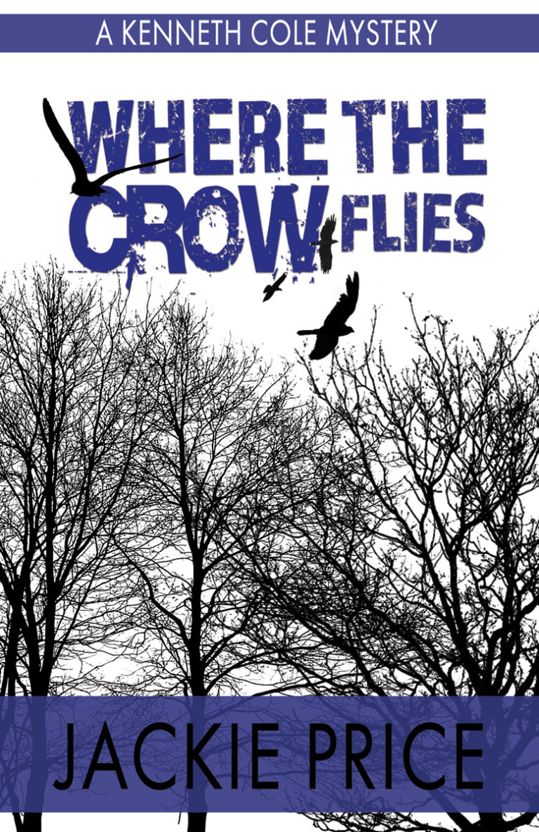 Black and white suspense with blue premade book cover