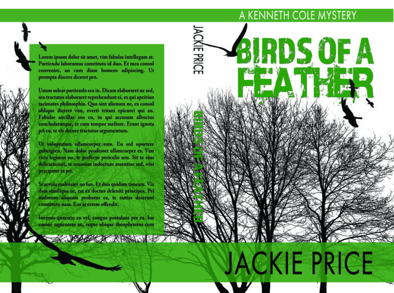 Black and white suspense with green premade book cover