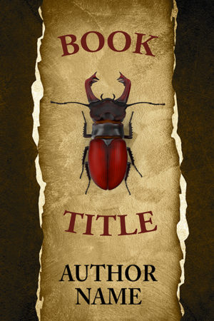 Abstract Stag beetle mystery minimalistic premade book cover