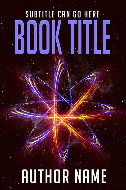 Abstract sci-fi premade book cover by Dani