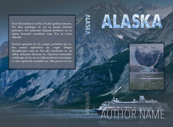 Alaskan cruise ship fiction or suspense mystery premade book cover