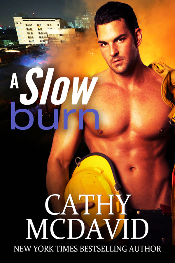 A Slow Burn Fireman Romance Book Cover