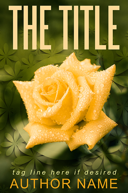 Yellow Rose Flower Sweet Romance premade book cover
