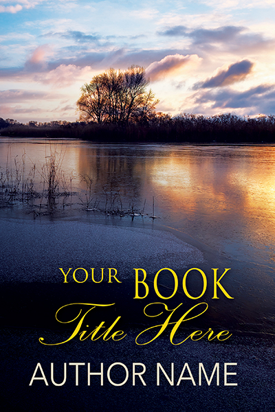 Sunset on lake fiction or nonfiction premade book cove