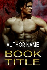 Sexy male vampire paranormal romance or thriller premade book cover