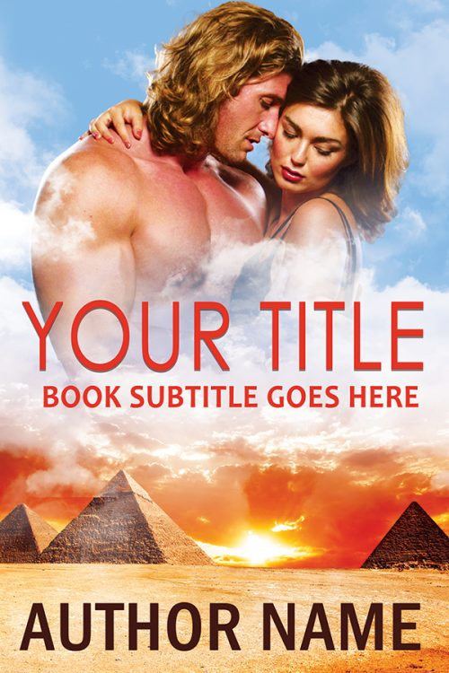 Egyptian pyramid type sexy historical or contemporary romance premade book cover