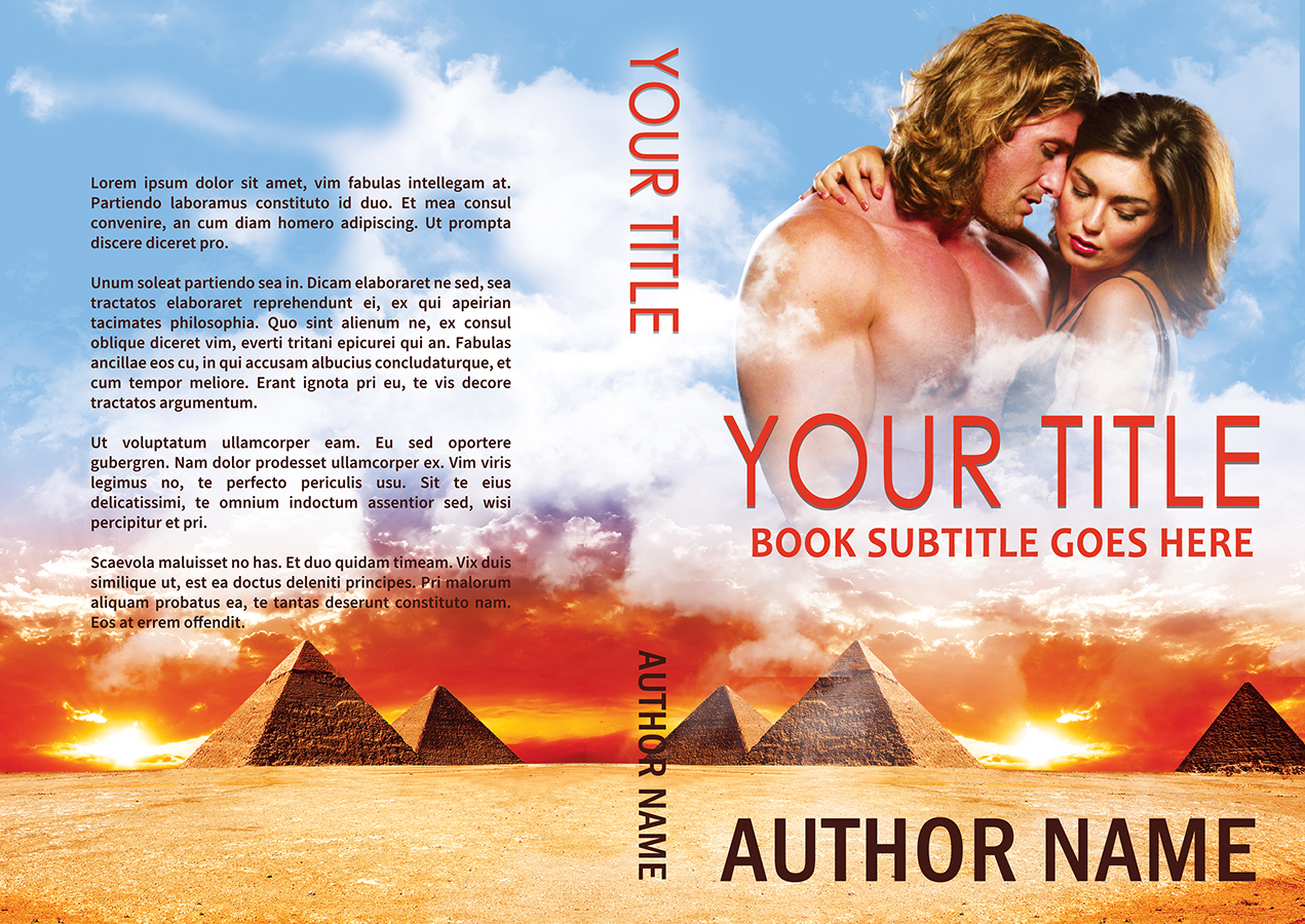 Egyptian pyramid type sexy historical or contemporary romance premade print book cover