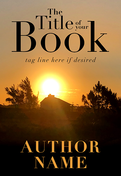 Country field sunset silhouette premade book cover