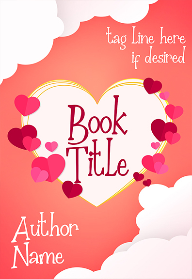 Romantic hearts and clouds premade book cover by Dani 57