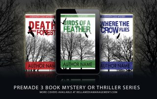 Three book premade bookcover series for mystery or thriller authors