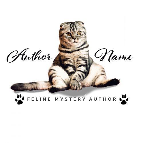 Cozy feline mystery suspense premade author logo