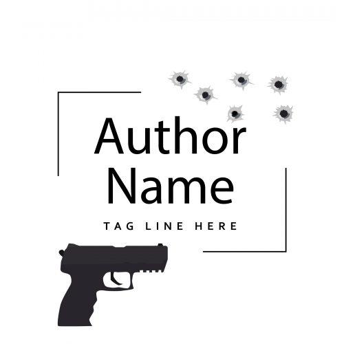 Crime mystery or suspense premade author logo