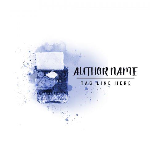 Watercolor fiction or non-fiction premade author logo