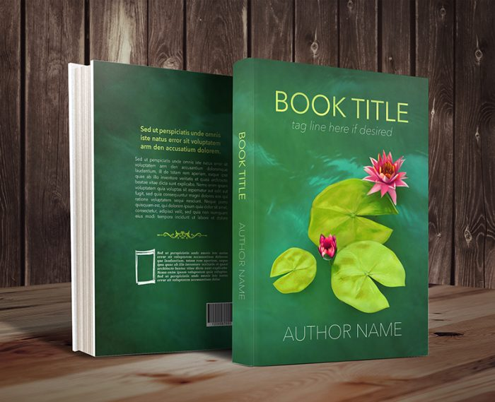 Lily pond romance or mystery premade book cover graphic