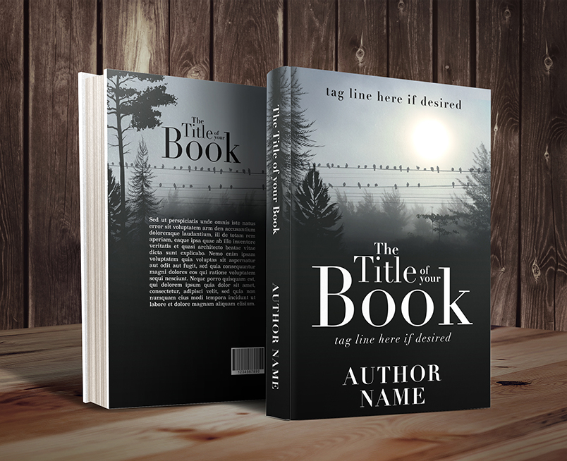 Fog morning birds premade book cover by Dani graphic