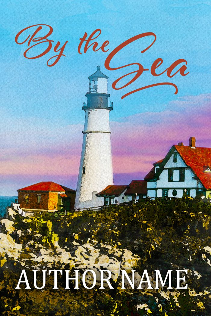 Sweet romance or fiction lighthouse seashore premade book cover