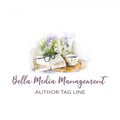 Glasses and book with flowers premade author logo design