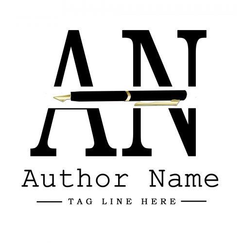 Black and gold Premade Author Logo Design