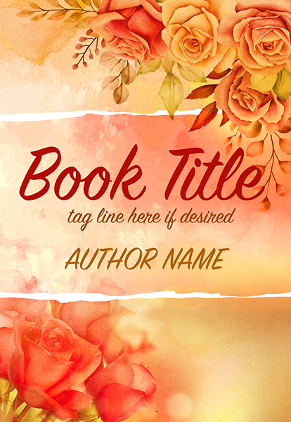 Roses and flowers romance premade book cover